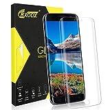 CRXOOX [1 Pack] Protector Pantalla para Samsung Galaxy S7 Edge, Borde Redondo 9H Dureza,Anti-Rayado, Anti-Huella Digital, Alta Definicion, Cristal Templado Vidrio Templado-Transparente