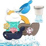 Yojoloin Juguetes Bañera,Juguetes de Baño Juguete de Agua para s 18+ Meses,Juego de Bañera Juguetes de Cascada,Juego de Ducha Juguete Bebe para Niños Niñas