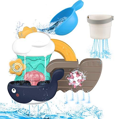 Yojoloin Badewannenspielzeug für Kinder,Baby Badespielzeug Wasserspielzeug ab 18 Monate+ Junge Mädchen,Baby Spielzeug zum Badewanne Baden Spaß