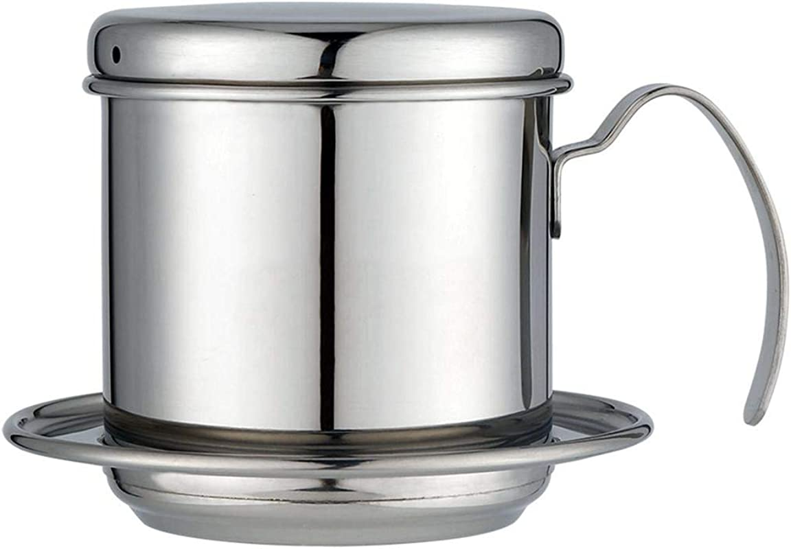 Edasw Vietnamese Coffee Pot 304 Stainless Steel Hand Washing Pot Vietnamese Drip Pot Coffee Drip Pot Drip Type Coffee Pot Color Stainless Steel Primary Color