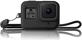 M.G.R.J® Soft & Flexible Silicone Case Cover for GoPro Hero 8 Action Camera (Black)