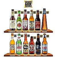 """Bière de MONDE Bière blonde Degré d'alcool : 5.34° Emballage anti-casse Dans cette Box, découvrez et dégustez 12 bières en provenance de 12 pays différents, récompensées au célèbre concours brassicole international """"World Beer Awards"""". La box idéale ..."""