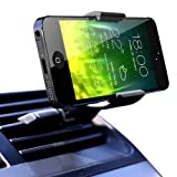 Koomus Air Vent Smartphone Car Mount Holder Cradle for all iPhone and Android devices - Retail Packaging - Black