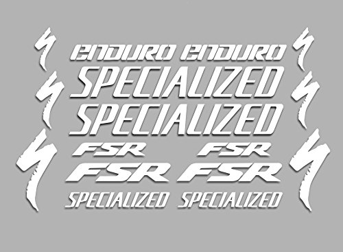 Ecoshirt RO-EXH3-KNVP Aufkleber Fsr Enduro F42 Vinyl Aufkleber Decal Sticker Decal Decal Decal Sticker MTB Bike weiß