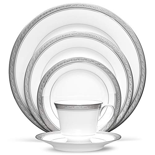 Noritake Crestwood Platinum - 5 piece place setting