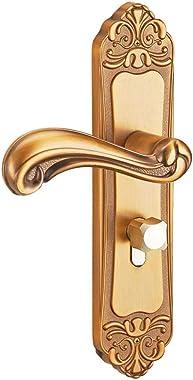 Cerraduras de aleación de aluminio para puertas, cerraduras para puertas de dormitorios interiores, manijas de puertas de bañ
