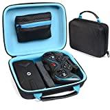 WGear Protective Case for Holy Stone HS160 Shadow FPV RC Drone kit, Smart strong divider protecting HS160 and Remote controler, zipper mesh pocket for cable, back up batteries and charger, black +blue