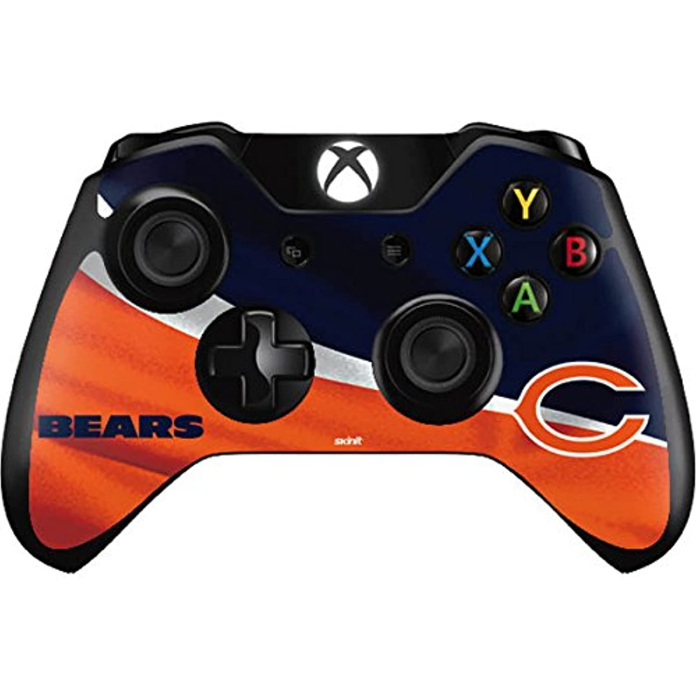 Skinit Chicago Bears Xbox One Controller Skin - Officially Licensed NFL Gaming Decal - Ultra Thin, Lightweight Vinyl Decal Protection