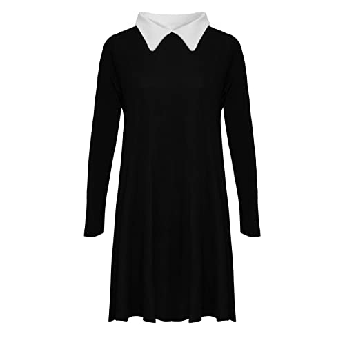 59e8dff0abd Riddled With Style ® New Womens Long Sleeve Plus Size Peter pan Collar  Swing Dress.