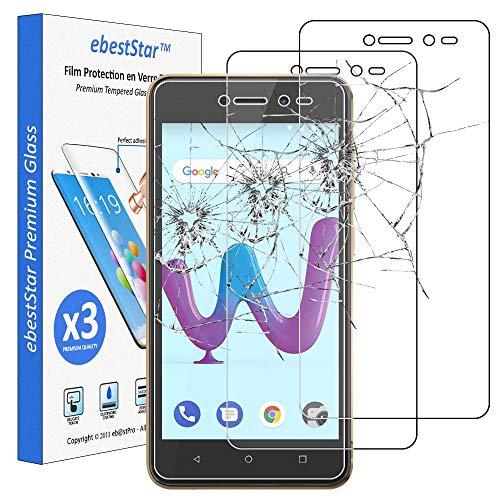 ebestStar - kompatibel mit Wiko Sunny 3 Panzerglas x3 Sunny3 Schutzfolie Glas, Schutzglas Bildschirmschutz, Bildschirmschutzfolie 9H gehärtes Glas [Phone: 146.7 x 74 x 9.95mm, 5.0'']