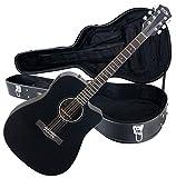 Rocktile Guitarra electroacústica D-60CE Cutaway negro (con estuche)