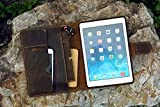 Vintage distressed leather iPad stand cover for 2020 new iPad Pro 11 12.9 Leather iPad organizer case for iPad Air 4 3 10.5 9.7 IXPMC