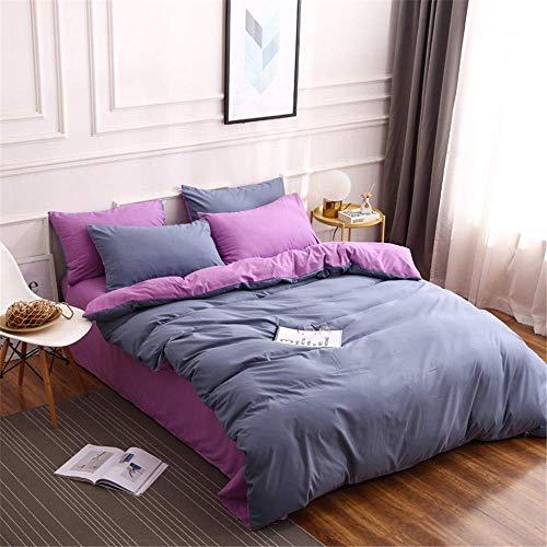 Ensembles housse couette, ensemble literie Home Textile quatre, literie 100% coton, tissu à haute densité et haute densité, doux et confortable, comprenant une housse couette + un drap lit + une