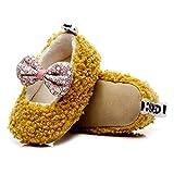 DEBAIJIA Zapatos para niños pequeños 1-3T Baby First-Walking Kid Deporte Suela Suave Algodón Encantador Bowknot 24 EU Amarillo (Tamaño Etiqueta 18-24)