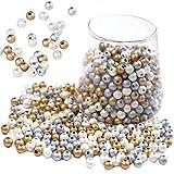 600 Pezzi Perline Rotonde Legno, Perline Rotonde Legno Naturale, 8mm Colorato Rotondo Legno con Foro Perline Artigianali per Gioielli Fai-da-Te, Fabbricazione Artigianale, Braccialetto (3 Colori)