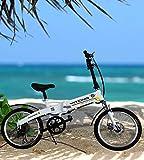 SHIJING 20 Pulgadas eléctrica SC eléctrica asistida de Bicicleta Plegable...