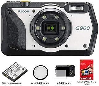 RICOH リコー G900 現場仕様デジタルカメラ 通常モデル +(予備バッテリーDB110・SDHCカード8GB・液晶保護フィルム・レンズ保護フィルター)付セット 国内正規品