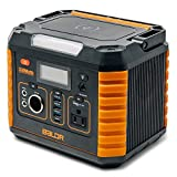 Portable Power Station 330W, 2019 Updated Portable Solar Generators for home use, CPAP Backup Battery with QC3.0&TypeC SOS Flashlight and Wireless Charger for Outdoor Camping Travel Emergency