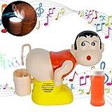 Deeabo Soplador de Burbujas de Jabón Eléctrico Pedo de Dibujos Animados para Niños,Máquina de Burbujas Que Sopla Pedo Música Ligera Broma Divertida Que Sopla Agua Juguete, 2000 Burbujas por Minuto