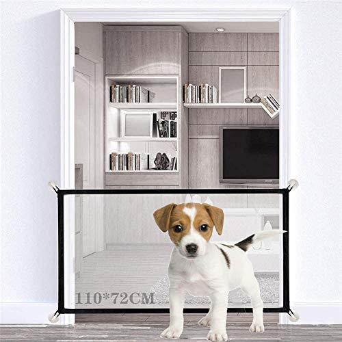 Nifogo Magic Gate Schutzgitter Hund, Magic Gate, Hund Safe Guard&Safe Guard Innen Außenschutz, Plus Pet Cooling Mat(110 * 72CM)