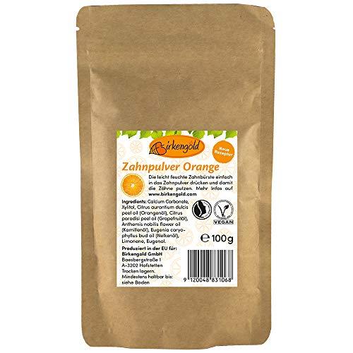 Birkengold Zahnpulver Orange Nachfüllbeutel 100 G | Schützt Den Zahnschmelz | 100% Natürliche Zutaten | Keine Schaumbildner Und Konservierungsstoffe | Naturkosmetik | Vegan