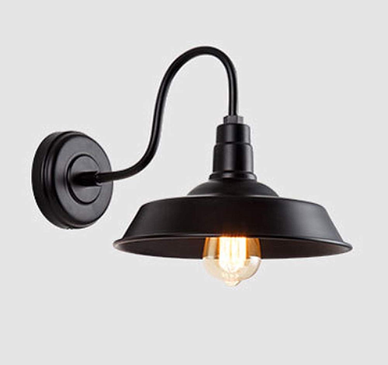 Phil wall light Auenleuchte Metall Aluminium E27 Lichtquelle 40w KorrosionsBestendig Perfekte Ausleuchtung Ihrer Laternenterrasse,schwarzdiameter36cm