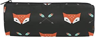 ALAZA Fox and Arrow Cylinder Pencil Case Holder Zipper Large Capacity Pen Bag Pouch Students Stationery Cosmetic Makeup Bag