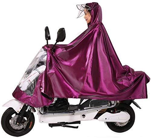 Regenjas regenjas poncho motorfiets regenjas 4XL enkele persoon elektrische regenjas regenkleding (kleur: lila 4XL individuele persoon)