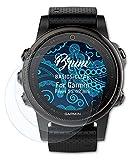 Bruni Schutzfolie kompatibel mit Garmin Fenix 5S 42 mm Folie, glasklare Bildschirmschutzfolie (2X)