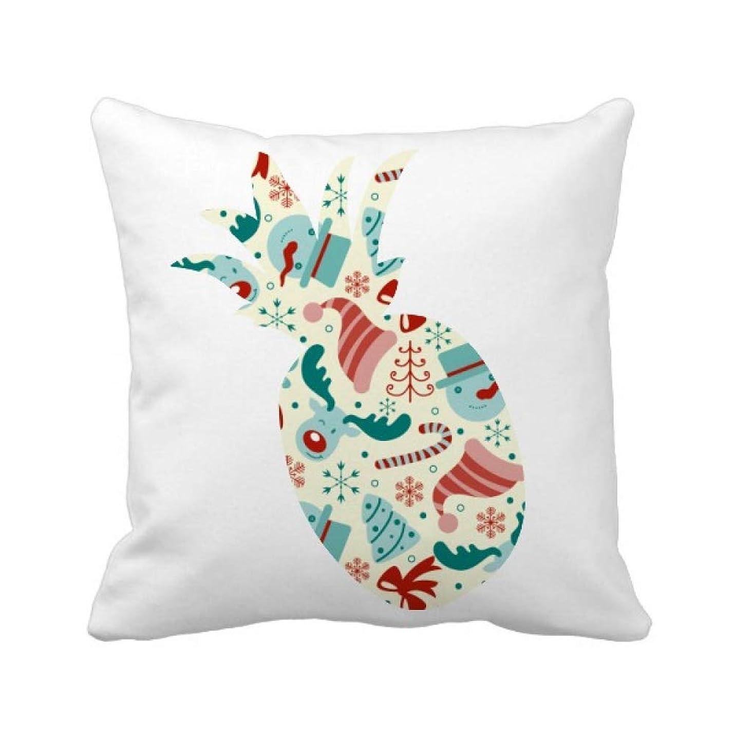 降ろす兵隊繊維陽気なクリスマスツリーの抽象的なイラスト パイナップル枕カバー正方形を投げる 50cm x 50cm