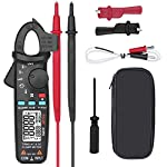 AC-DC Current Digital Clamp-Meter - 100A 6000-Counts Low Impedance Voltage 1 mA Reading Auto Range Multimeter Tester with Temperature,True RMS