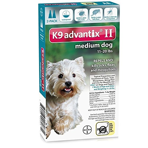 K9 Advantix II for Dogs (2 Packs Of 2-Month Supply- 4 Total) 11-20lb