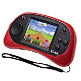 EASEGMER Kids Handheld Game Portable Video Game Player with 200 Games 16 Bit 2.5 Inch Screen Mini Retro Electronic Game Machine ,Best Gift for Child (Red)