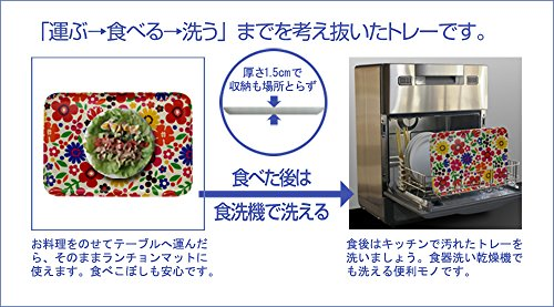 タツクラフト SR ランチョン トレー 丸 フフラ 食洗機対応 電子レンジ対応 プラスチック おしゃれ 北欧 盆