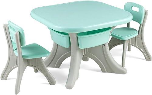 a la venta Mesa de Estudio para Niños Mesas y sillas para Niños Niños Niños de Thicken mesas de Juego y sillas multifunción para el hogar projoección de Seguridad y Salud (Color   verde)  respuestas rápidas