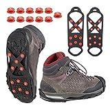 Relaxdays Paire de Crampons pour Chaussures Unisexes Noir Taille 36-40 1 x 9 x 27,5 cm