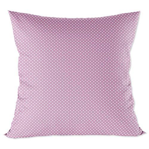 Kopfkissenbezug Baumwolle Kissenbezug Kinder 40 x 40 cm - Kissenhülle Baby Dekokissen Bezug für Kissen rosa