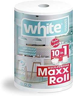 White Multi-Purpose Kitchen XL Towels - 650 Sheet