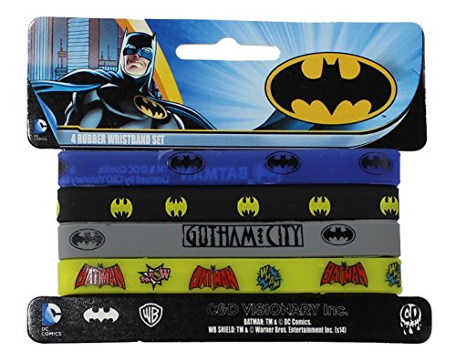 BATMAN Wristband Collection Set, Officially Licensed Original DC Comics Artwo