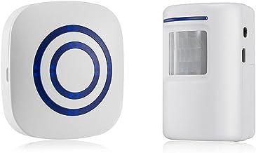 color blanco Electraline 58413 Detector sensor de presencia con alarma
