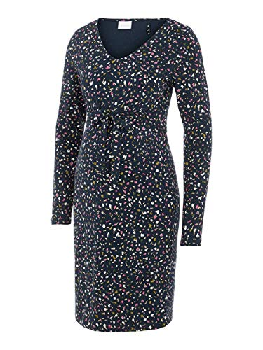 MAMALICIOUS Damen MLJENN L/S Jersey ABK Dress A. Lässiges Kleid, Carbon, XL