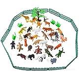 Juego de 55 Figuras de Animales Salvajes de la Selva, Juguetes de...