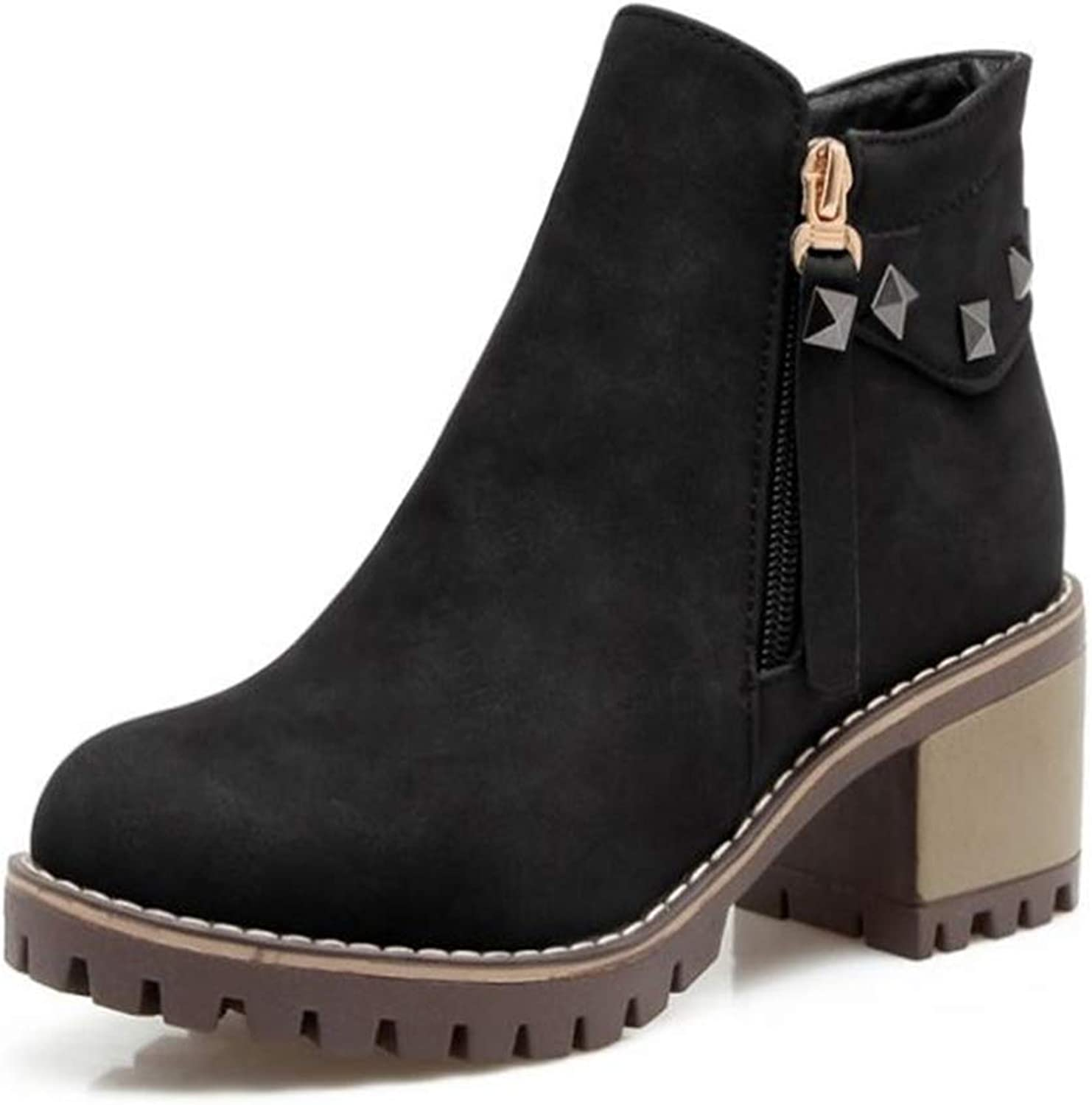 Gusha Vintage Martin Boots Women's Thick Snow Boots Winter Boots