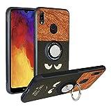 Alapmk Hülle Huawei Y6 2019/ Honor 8A/Y6 Pro 2019, Handyhülle mit Ringhalter [Magnetic Car Mount], TPU + PC Bumper Handyhülle Stoßfest Hülle,Do not Touch