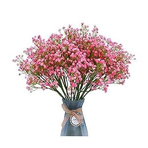 Silk Flower Arrangements Hopereo 50Cm Babies Breath Plastic Artificial Flowers Pu Latex Gypsophila Fake Flowers DIY Bouquets for Wedding Home Arrangement Decor-Pink-1Pc