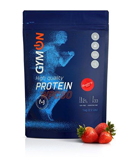 GYMON Whey Protein. Molkenproteinpulver WPC80. 33 Portionen-1000g (Erdbeere)