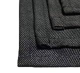 FireMat Feuerfestes Brandschutz Tuch im Set (4er Set:L) Black Edition. Ideal für Küchen-Elektrogeräte, Handwerker und Bastler