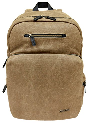 """Cocoon URBAN ADVENTURE - Laptop Rucksack mit besonderem Organisationssystem / Praktischer Backpack für Laptops / Daypack / Rucksack für Tablet, Laptop / 2 Reißverschlussfächer / Beige/Braun - 16"""" Zoll"""