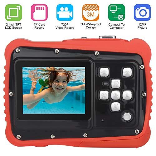 DIDSeth Digitalkamera Kind, Pixel 12M wasserdichte Kamera mit LCD Bildschirm TFT 2 Zoll Video Spielzeug Camcorder Digitalzoom 8X