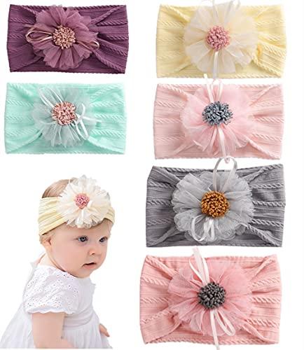 Ousyaah 8 piezas Vendas del Bebé Hairband de Bebés, Multicolor Hairband de los Recién Nacidos, Diadema Elástica Bebé Turbante Niñas Banda Para Cabeza Bebe Accesorio